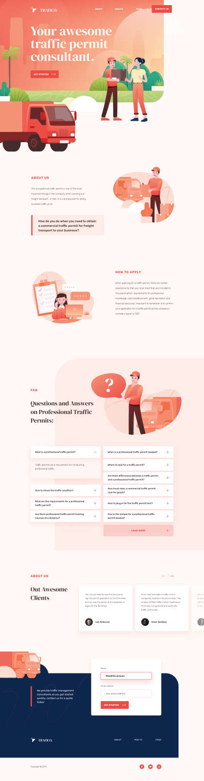 Traffico Landing Page for Figma