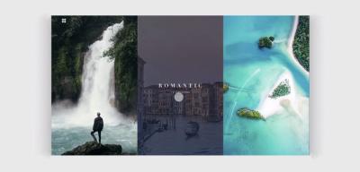 Travel agency XD animated website