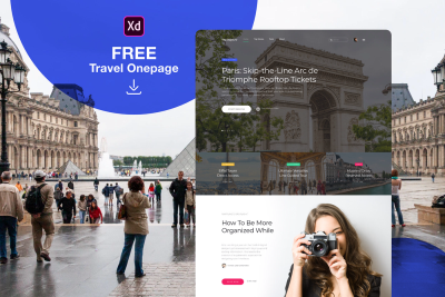 Travel landing page for XD