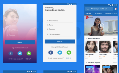 Triipal free mobile UI kit