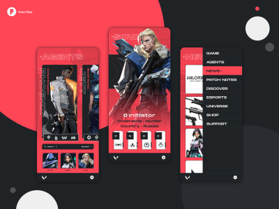 Valorant - Mobile concept design