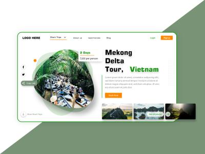 Vietnam travel – XD landing page