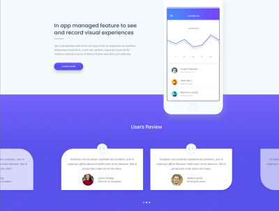 VR startup landing page for XD