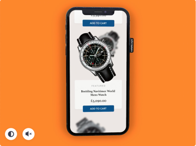 Watch ecommerce XD concept
