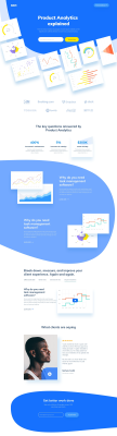 Analytics XD landing page template