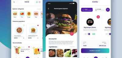 XD food delivery app concept