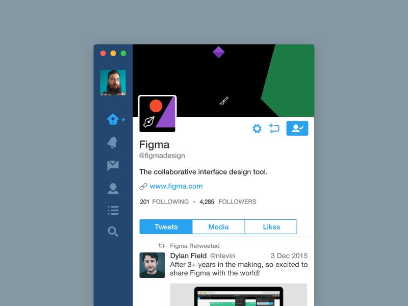Twitter App in Figma