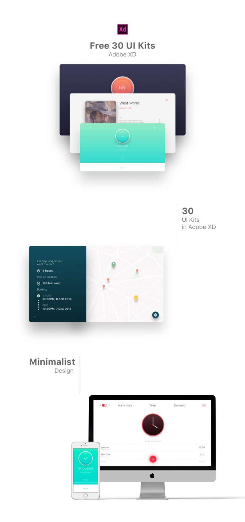 30 Free Minimal UI Kits