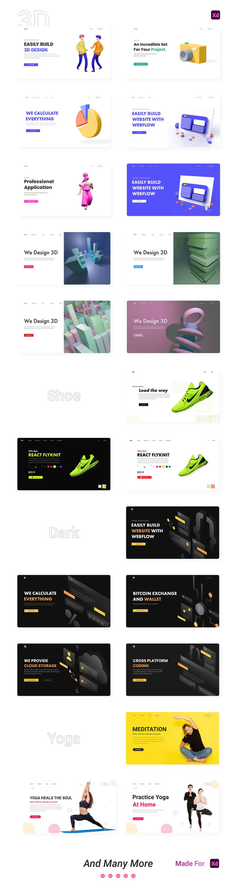 42 Landing page concepts