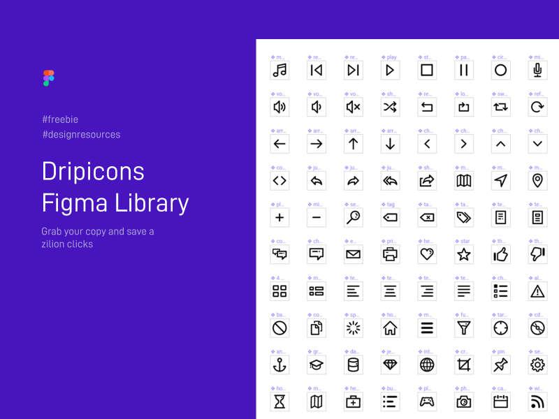 Dripicons Figma Library for Figma