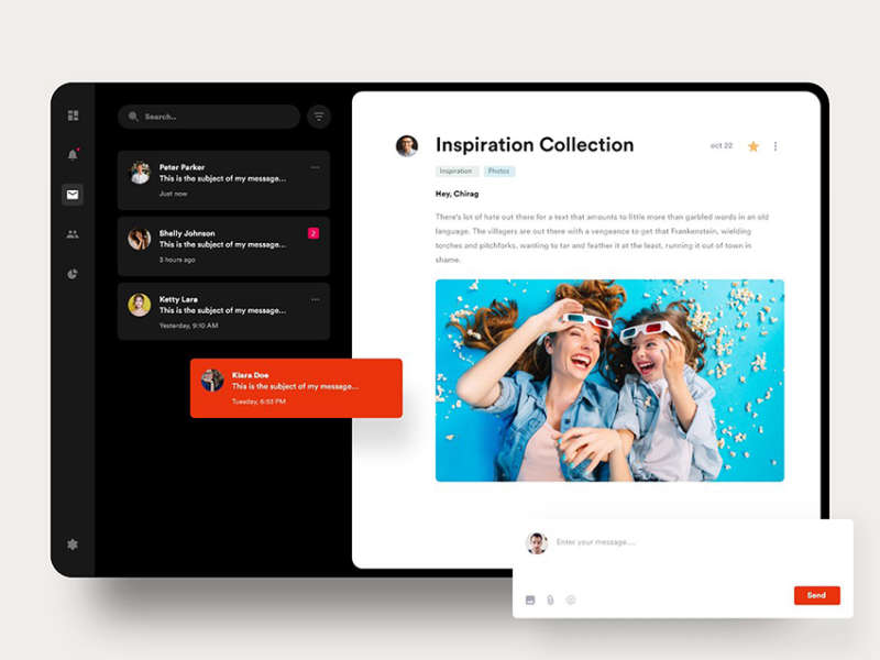 Email Web Template Design