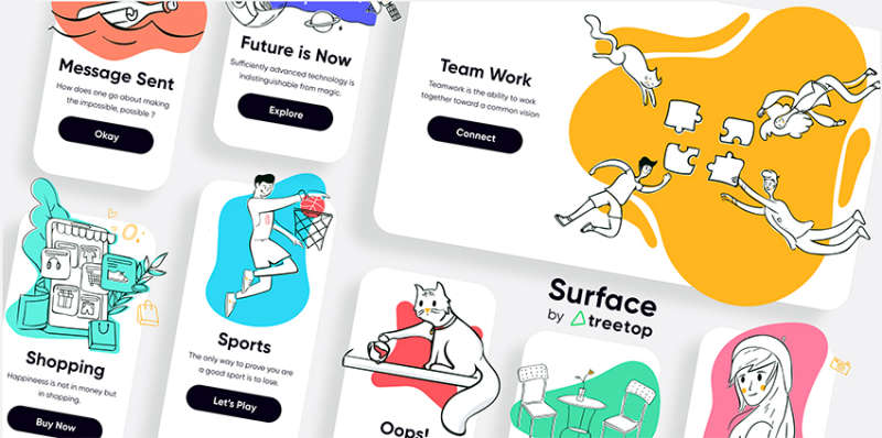 FREE 60 illustrations Pack