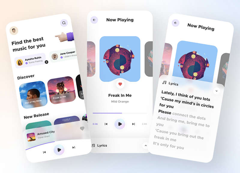Music Player App UI Free