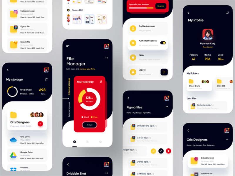 File Manager App UI Design