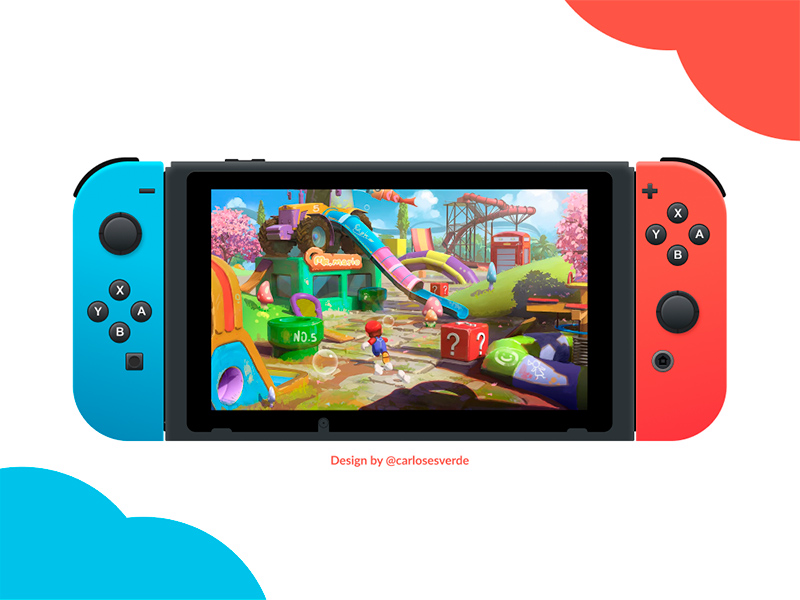 Nintendo Switch made in Figma