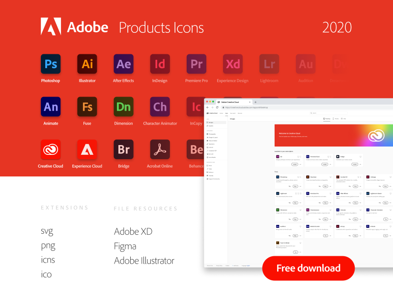 Adobe tools icons for Adobe XD