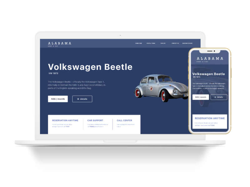 Rent a Car Home Page