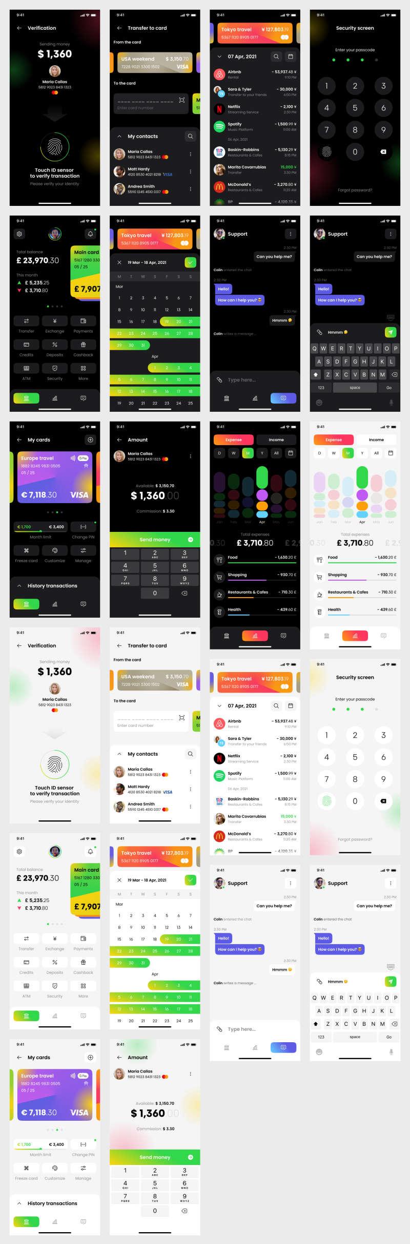 Banking App Free UI Kit for Figma