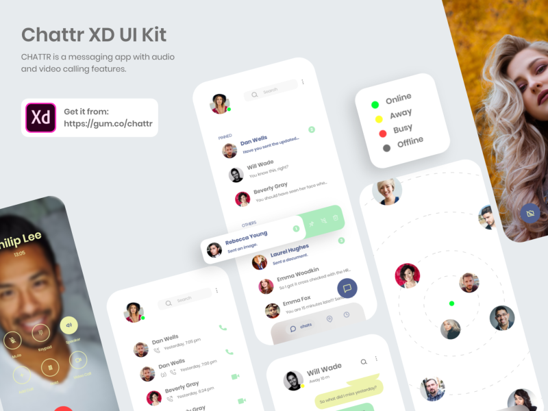 Chattr free XD UI kit