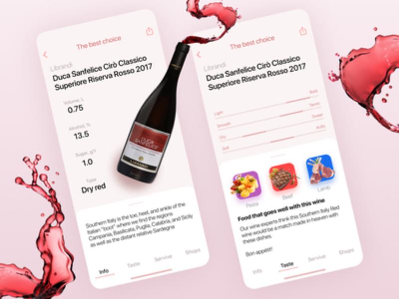 Concept wine app 🍷