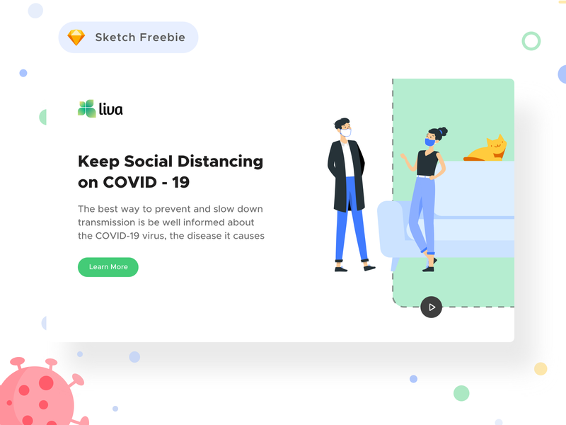 Coronavirus Social Awareness Landing Page ( Free Sketch FIle )