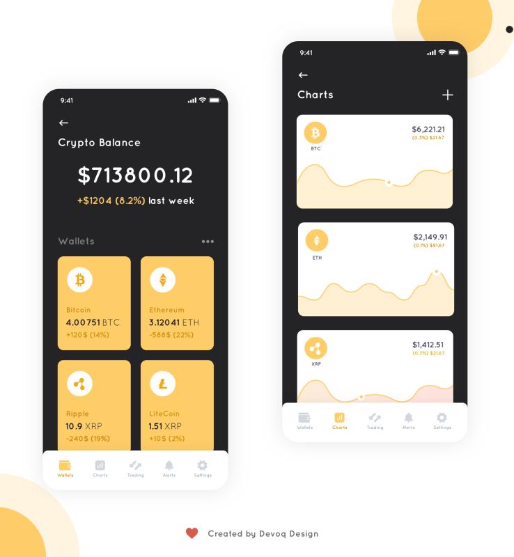 Crypto wallet XD concept