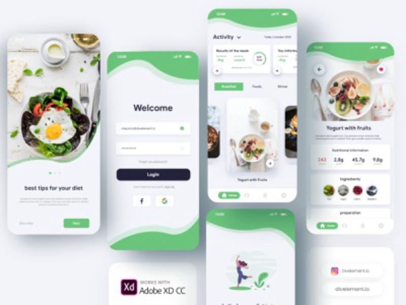 Diet App Concept