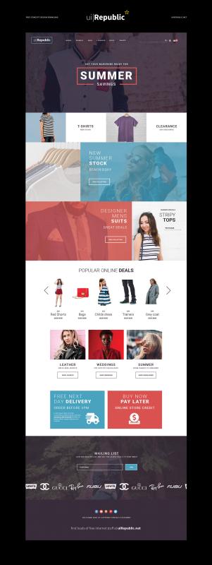 Fashion website design template