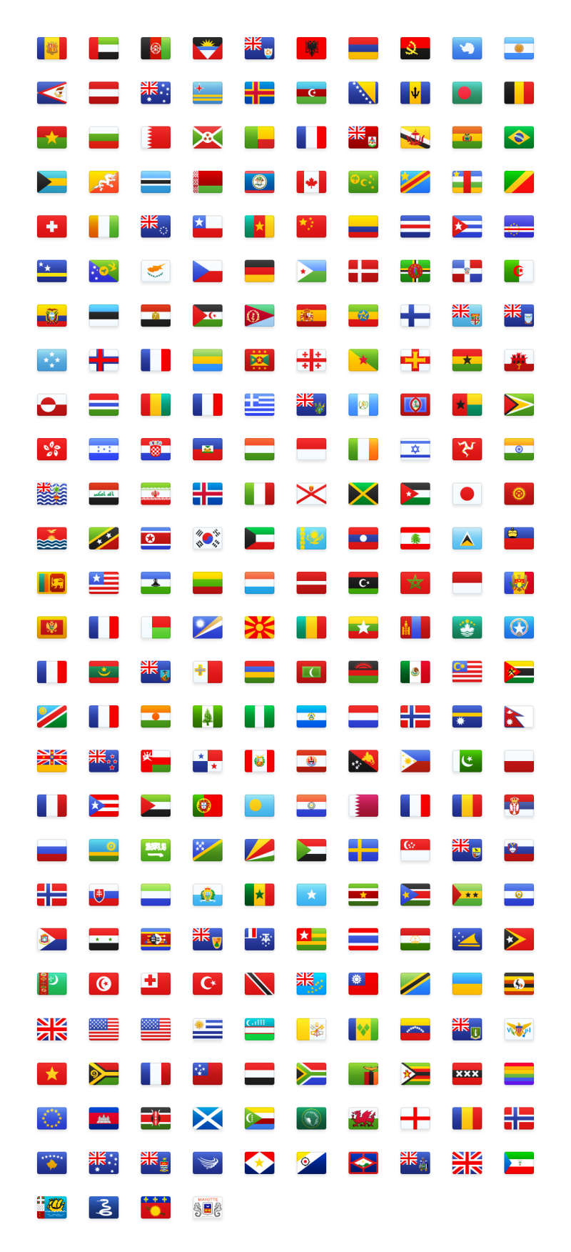 Flagpack Free Icons Pack for Figma