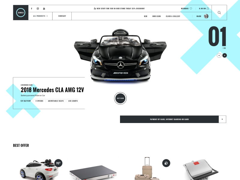 Free ecommerce website XD template