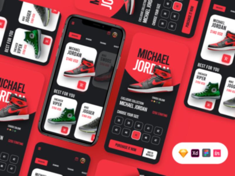 Free Shoes App UI