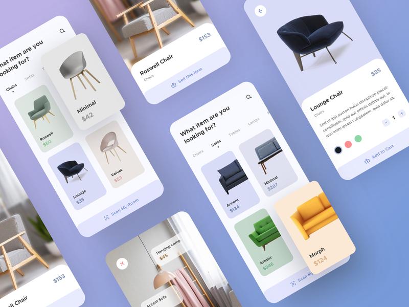 Furniture App Full UI Kit ( Freebie )