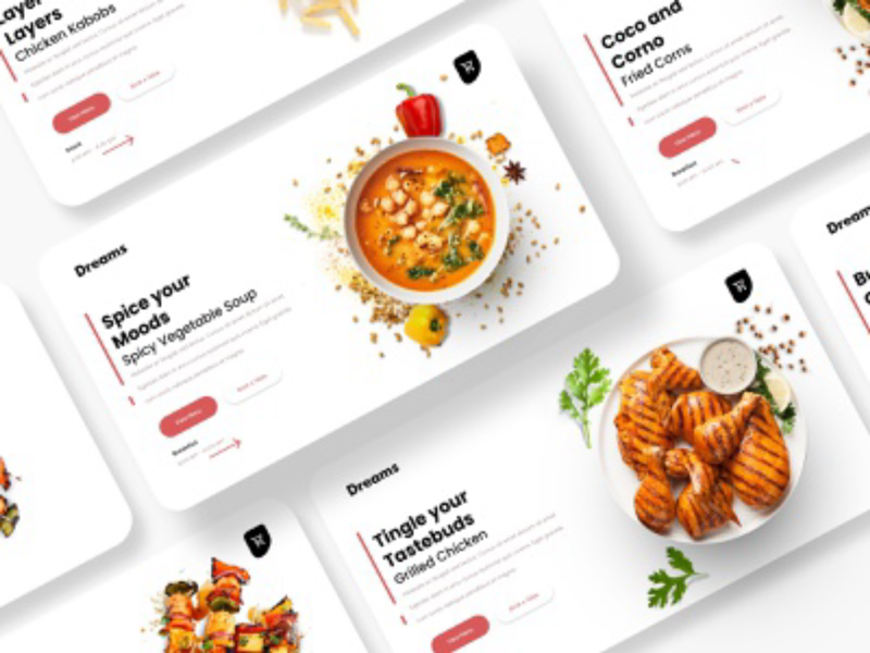 Grilled Dreams - Web UI for a food store