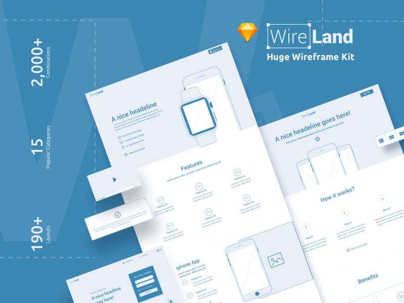 Huge Wireframe Kit