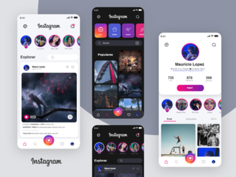 Instagram Redesign UI