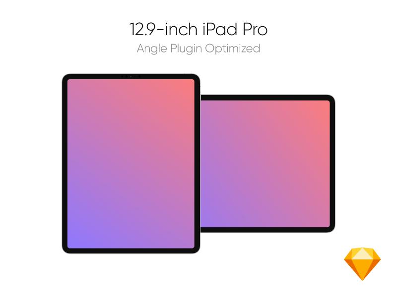 iPad Pro Front View Mockup