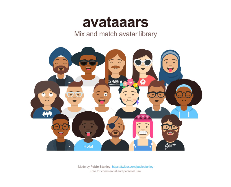 Mix & Match Avatars with a Sketch library