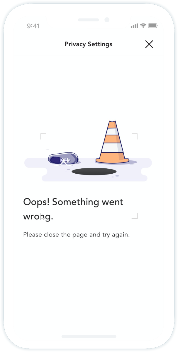 Mobile Apps Error and Empty Pages