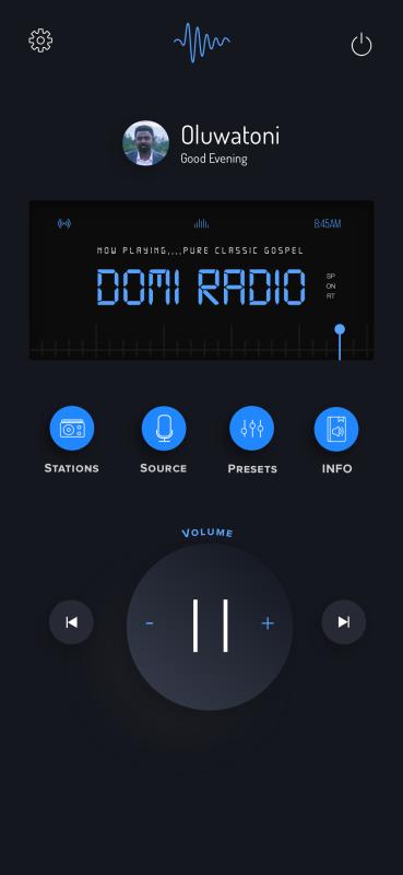 Mobile Radio UI concept (Dark)