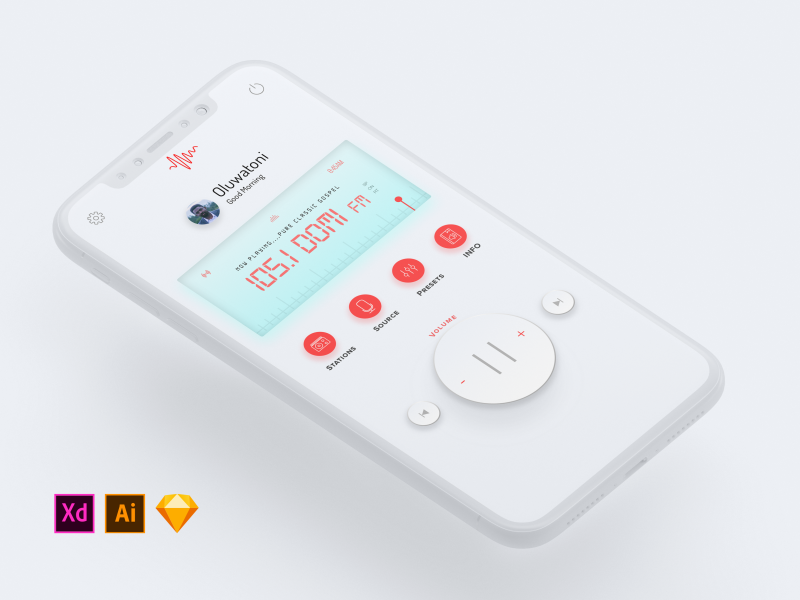 Mobile Radio UI concept (Light)