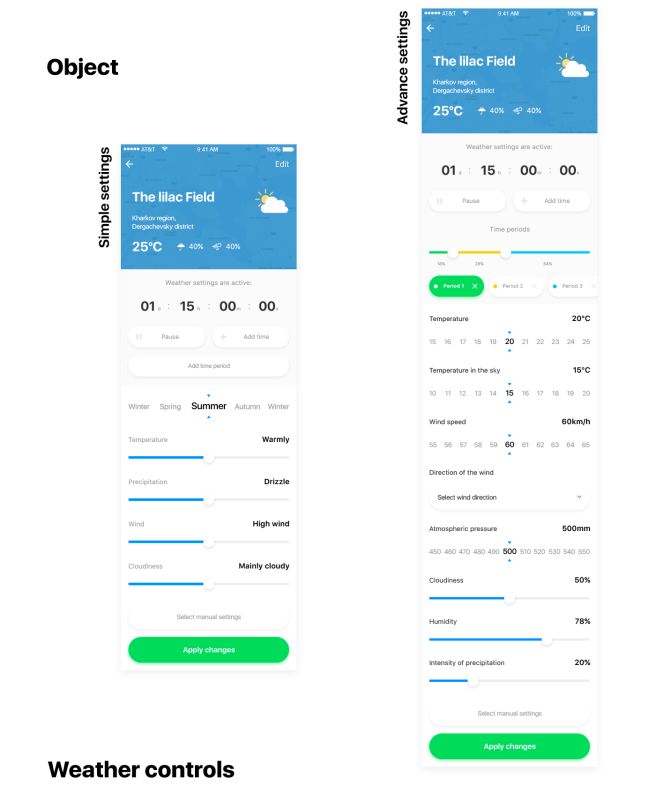 MyWeather – Free mobile UI kit for XD