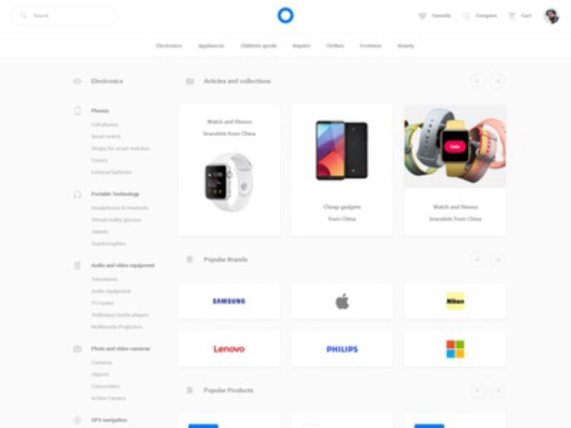 Online Store WebUI-Kit   Free PSD Download  