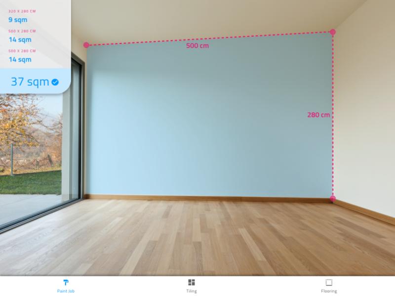 Paint tiles AR animated concept