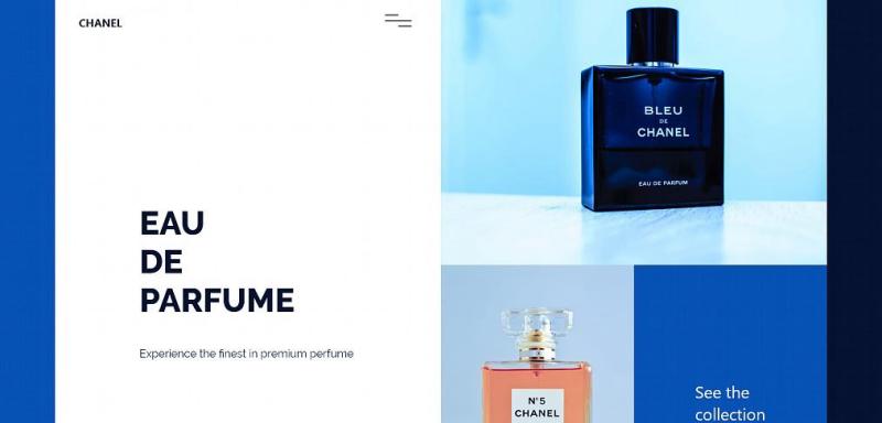 Perfume homepage XD concept