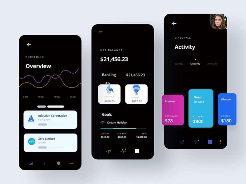 Money manager App UI