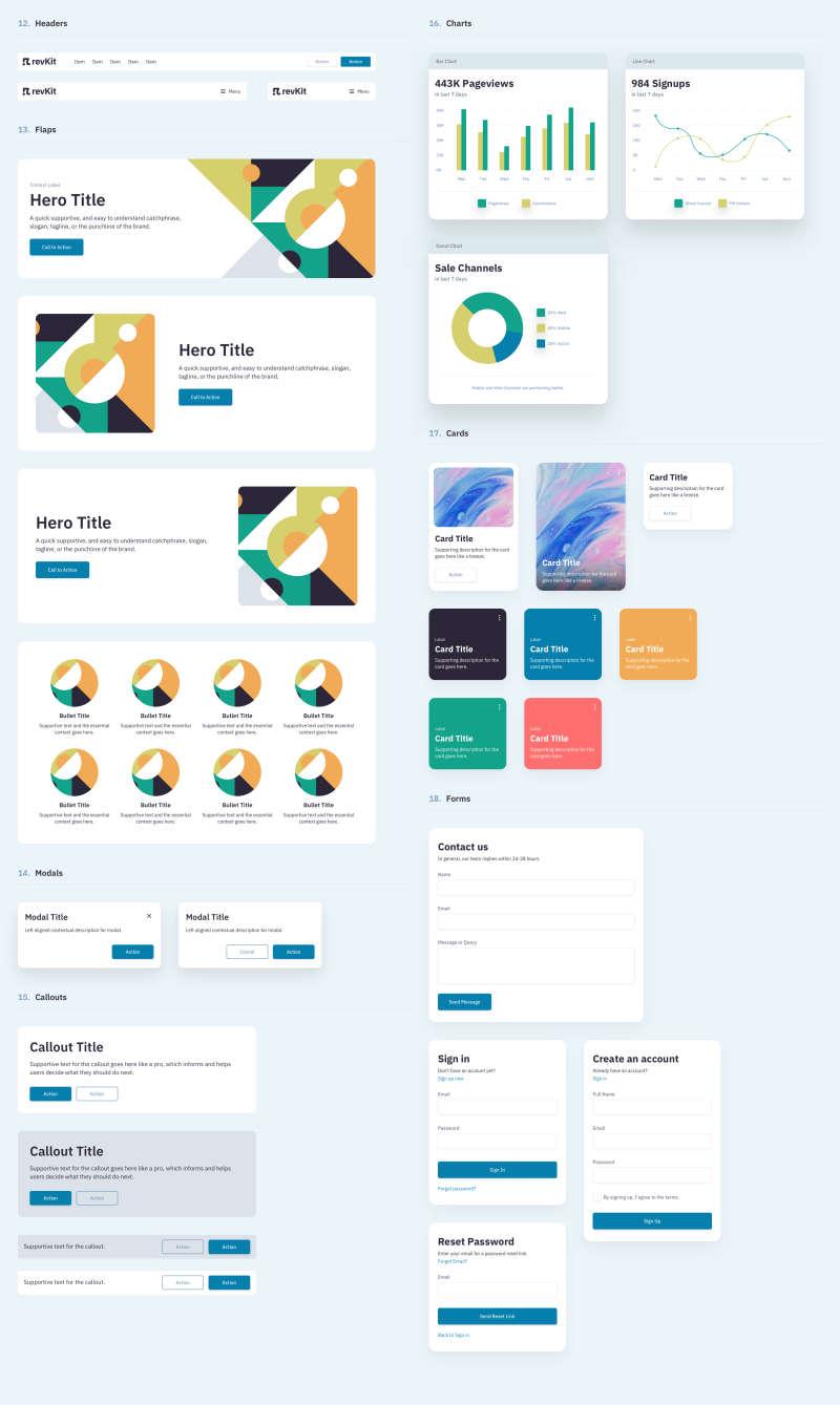 Revkit Design System UI Kit for Figma