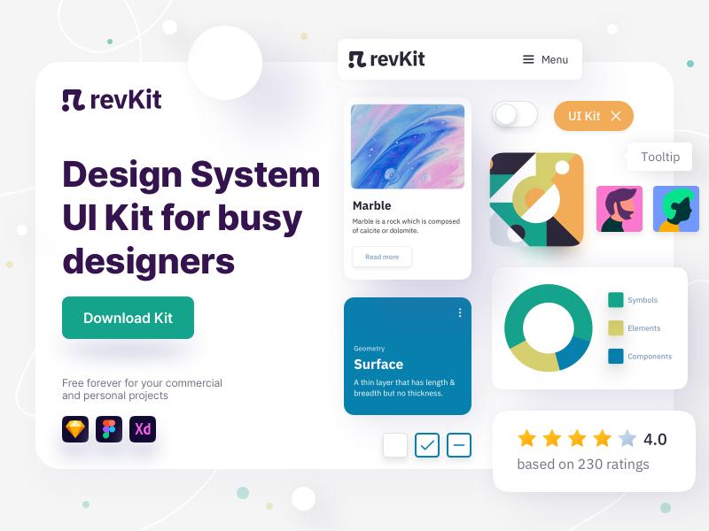 Revkit free XD UI kit