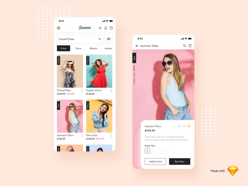 Seasons - A Fashion App