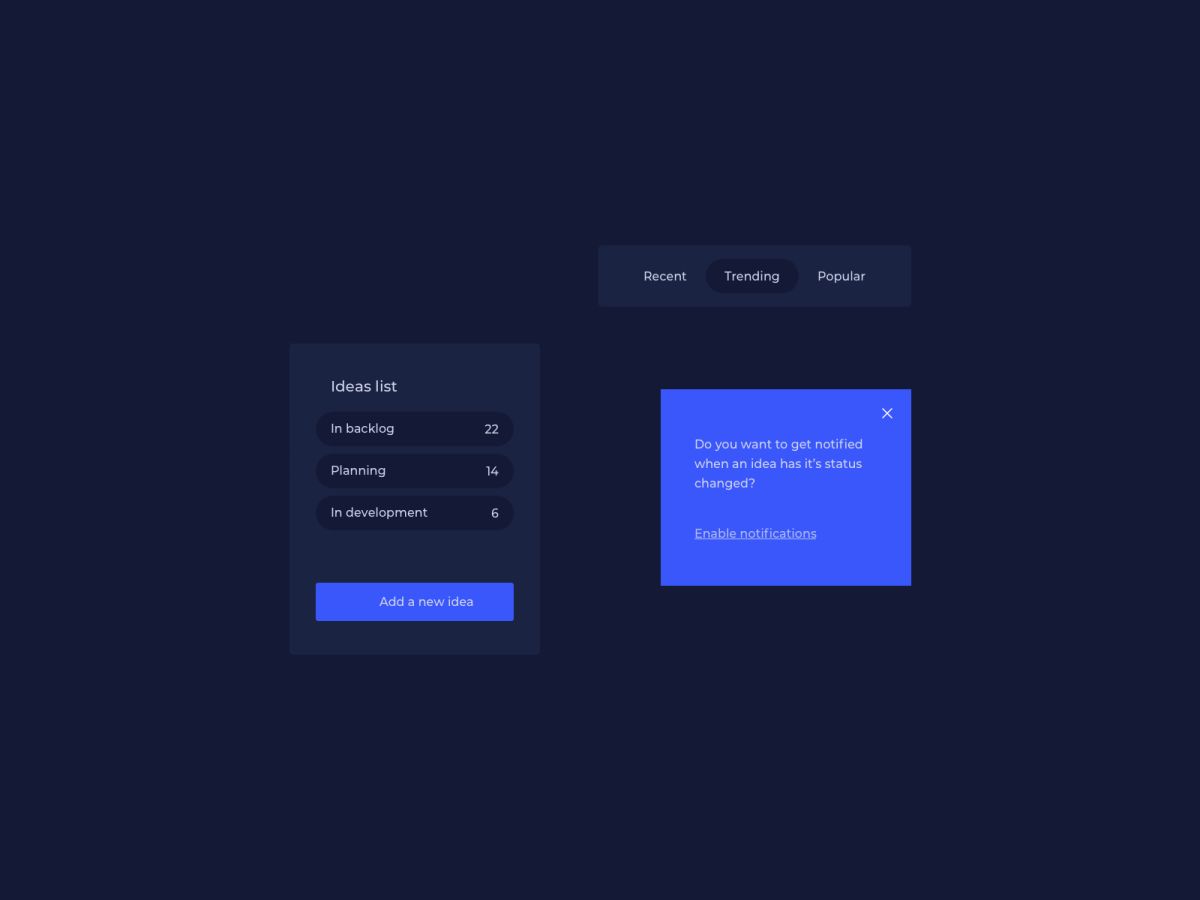 Dark Themed UI Components Design