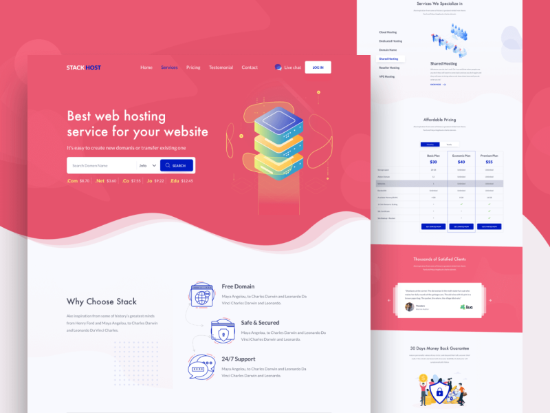 Stack Host Landing Page